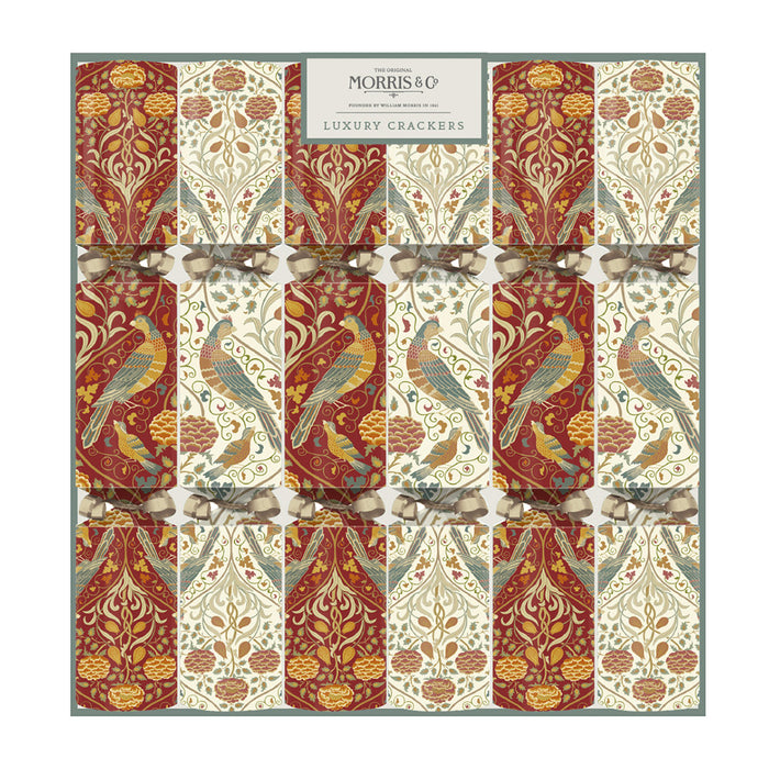 William Morris Seasons By May Luxury Festive Christmas Crackers Pack of 6
