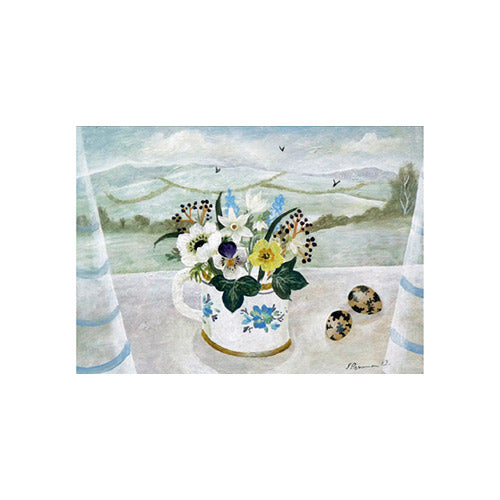 Winter Posy And Quail Eggs By Sarah Bowman Greeting Card