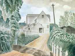 Hull's Mill, Sible Hedingam, 1935 By Eric Ravilious Greeting Card