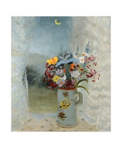 Flowers by Moonlight by Winifred Nicholson Greeting Card