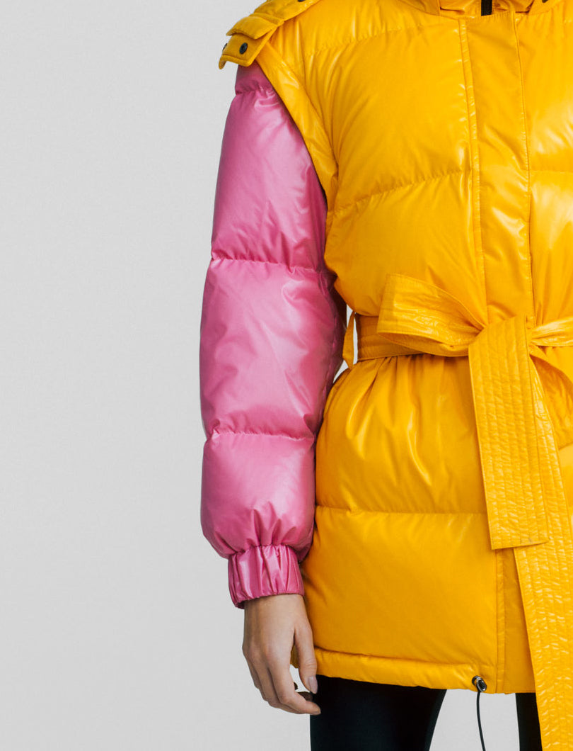 Paded organe coat