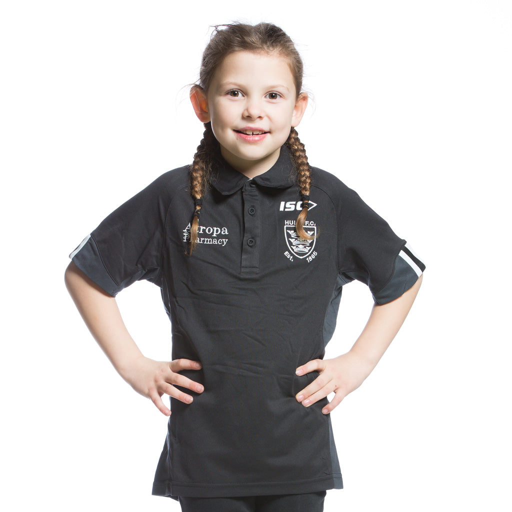 2020 Kids Principal Black Performance Polo