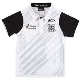 2020 Kids White/Cool Grey Striped polo