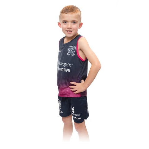 2020 Kids Navy & Pink Faded Singlet