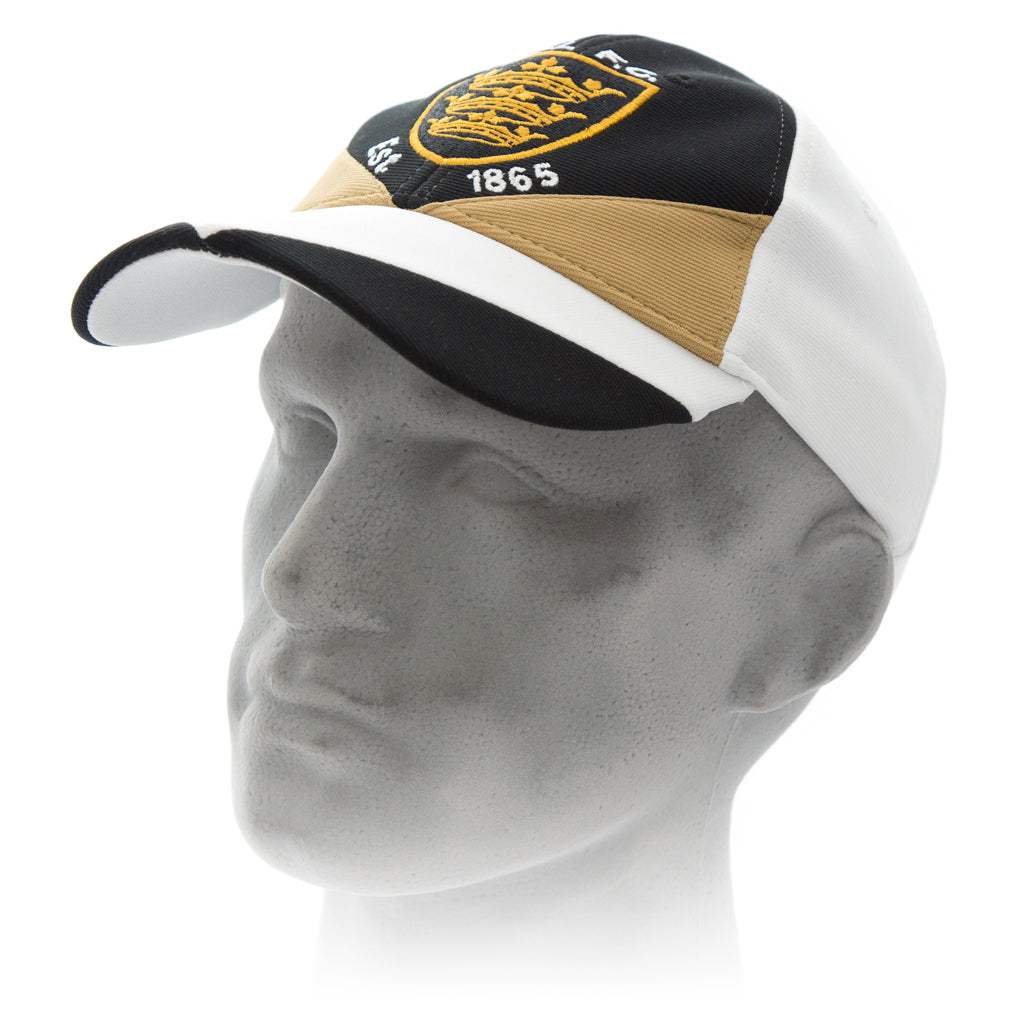 White, Black and Gold Cap
