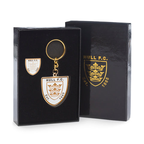 Boxed Keyring & Pin Badge
