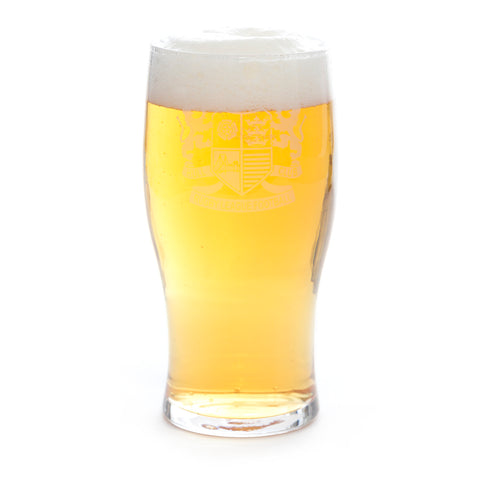 Retro Badge Pint Glass