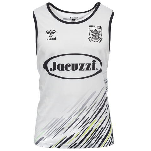 Kids Elite Singlet White