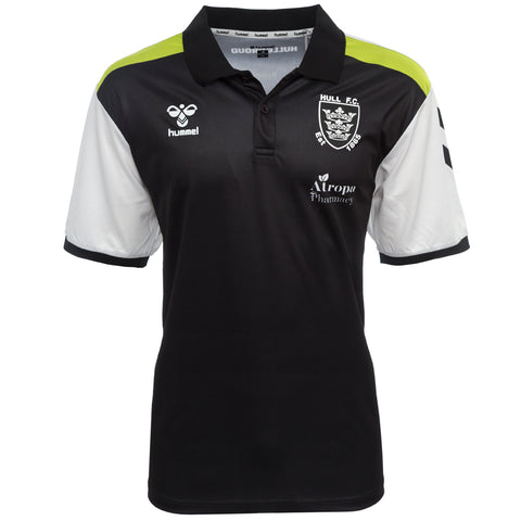 Elite Polo Black Neon Strip