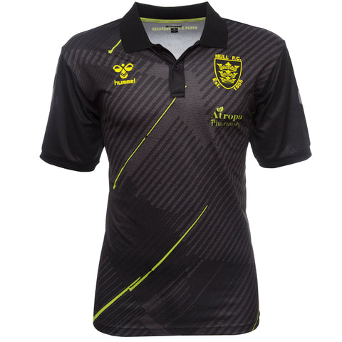 Elite Polo Black Marl Neon Stripe