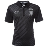 2020 Adults Black/Cool Grey Striped polo