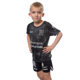 2020 Kids Black Patterned Training Tee