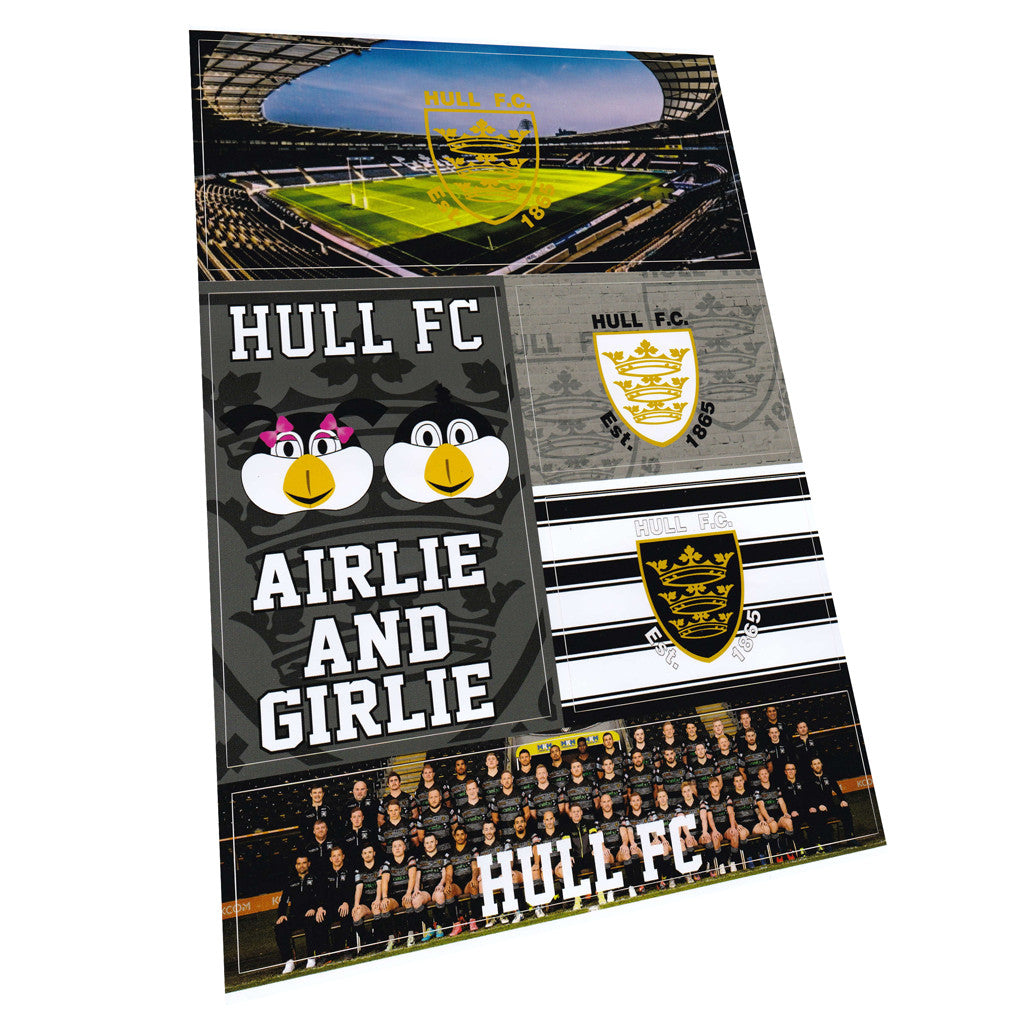 A4 Hull FC Sticker Set