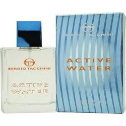 Active Water By Sergio Tacchini Edt Spray 3.4 Oz