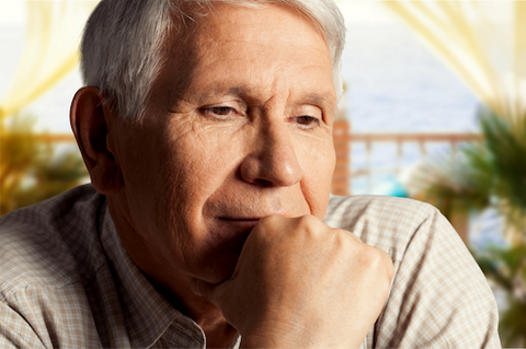 man thinking about memory supplements