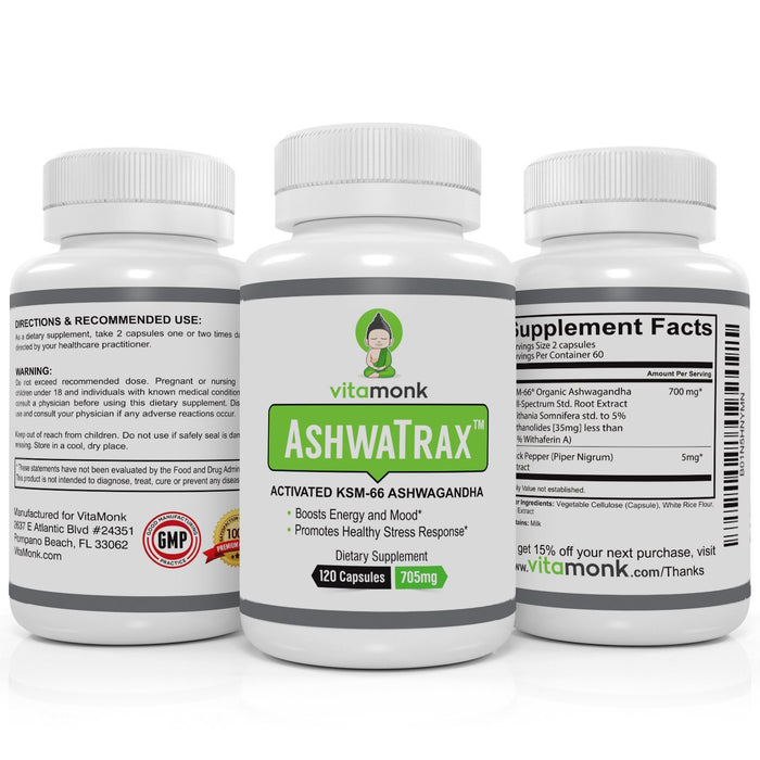 AshwaTrax™ Bio-Enhanced KSM-66 Ashwagandha Extract - Buy