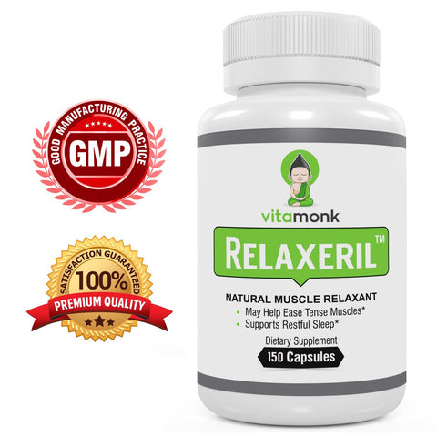 RELAXERIL™ All-Natural Muscle Relaxer - Long-Lasting Leg Cramp, Soreness, Back Spasm, and Tension Relief