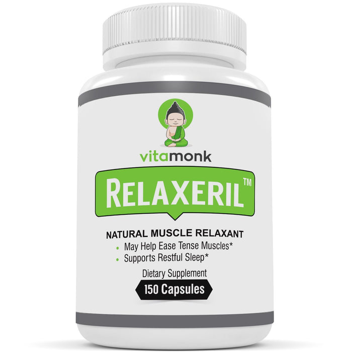 RELAXERIL™ - All-Natural Muscle Relaxer - Long-Lasting Leg Cramp, Soreness, Back Spasm, and Tension Relief