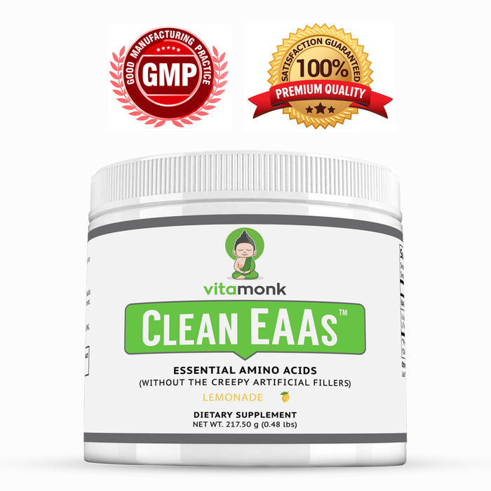 Clean EAAs ™ - Pure Essential Amino Acids with NO Weird Fillers or Artificial Sweeteners