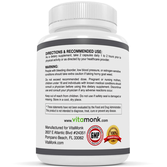 OptiGoat™ - Premium Horny Goat Weed Extract Standardized For Icariin - 60 Capsules
