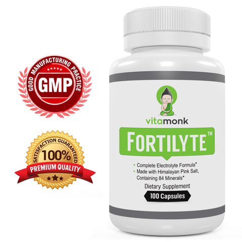 Fortilyte™ - Advanced Electrolyte Capsules With Pink Himalayan Salt, Potassium, Calcium & Magnesium