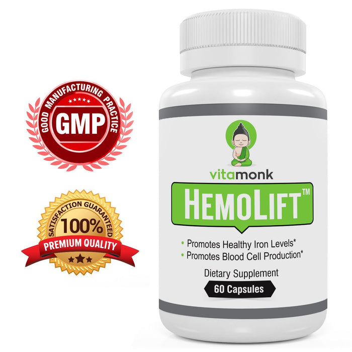 HemoLift™ - Advanced Iron Supplement For Blood Cell Production - With Ferrous Fumarate