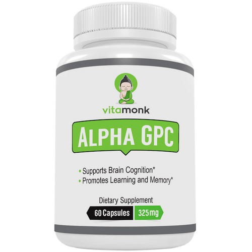 Alpha GPC Capsules - The Best Choline Supplement That Crosses Blood-Brain Barrier
