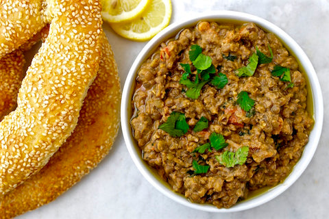 Lentil Dip with Tahini and Olive Oil