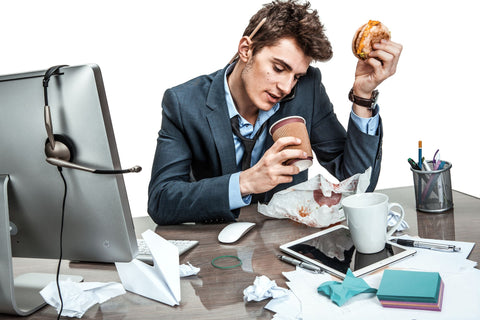 Never eat while you are busy
