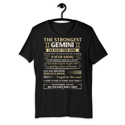 Zodiac Thing - Zodiac Tee:  - The strongest Gemini Unisex T-Shirt
