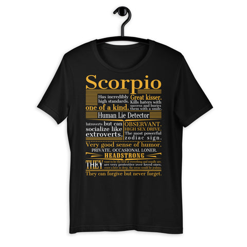 Zodiac Thing - Zodiac Tee:  - Great Scorpio Unisex T-Shirt