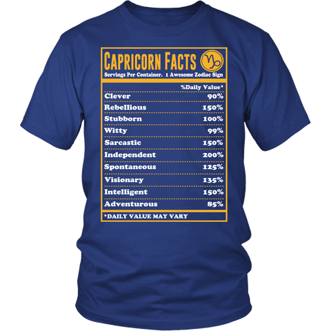 Zodiac Thing - Zodiac Tee: T-shirt - Capricorn Facts T-shirt