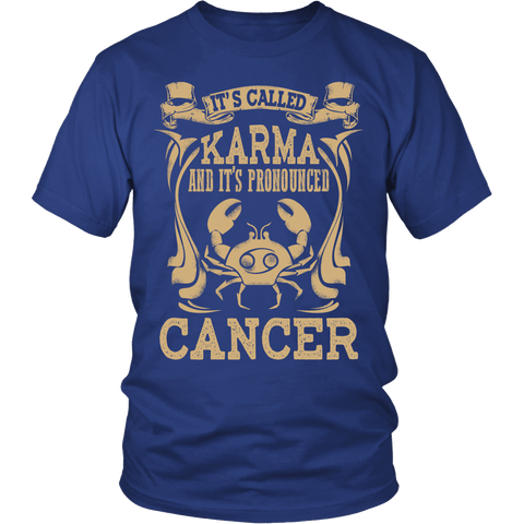 Zodiac Thing - Zodiac Tee: T-shirt - Cancer Pronounced T-shirt