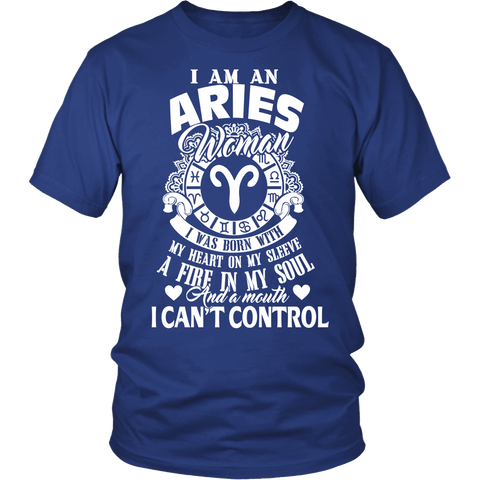 Zodiac Thing - Zodiac Tee: T-shirt - I Am An Aries Woman