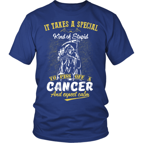 Zodiac Thing - Zodiac Tee: T-shirt - Calm Cancer T-shirt
