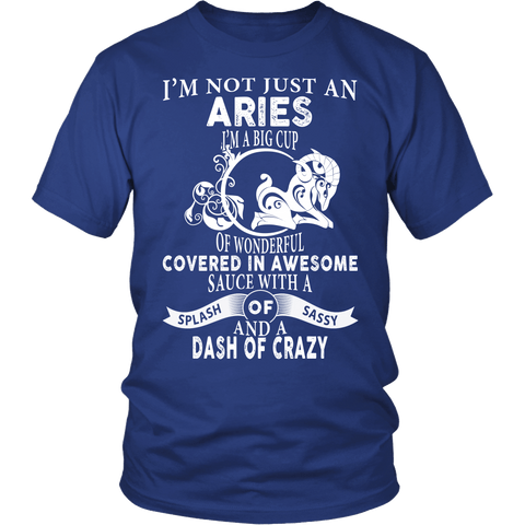 Zodiac Thing - Zodiac Tee: T-shirt - I'm not just an Aries