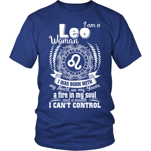 Zodiac Thing - Zodiac Tee: T-shirt - I am a Leo Woman T-shirt