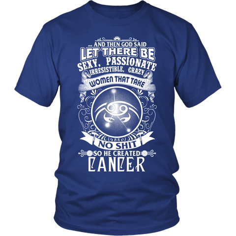 Zodiac Thing - Zodiac Tee: T-shirt - Cancer T-shirt God Created Cancer