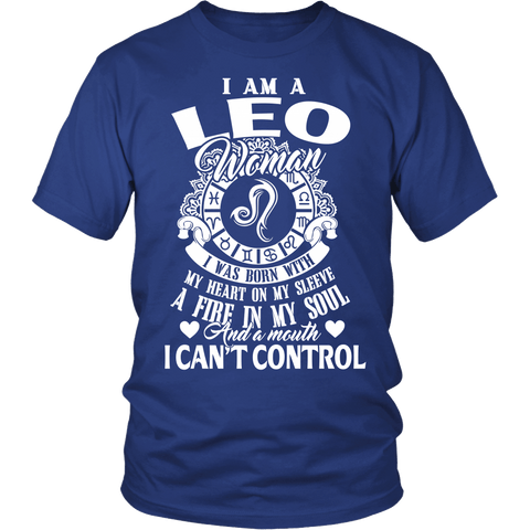 Zodiac Thing - Zodiac Tee: T-shirt - I Am A Leo Woman