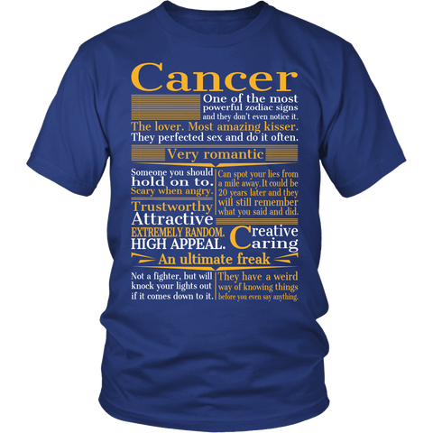 Zodiac Thing - Zodiac Tee: T-shirt - A Cancer T-shirt