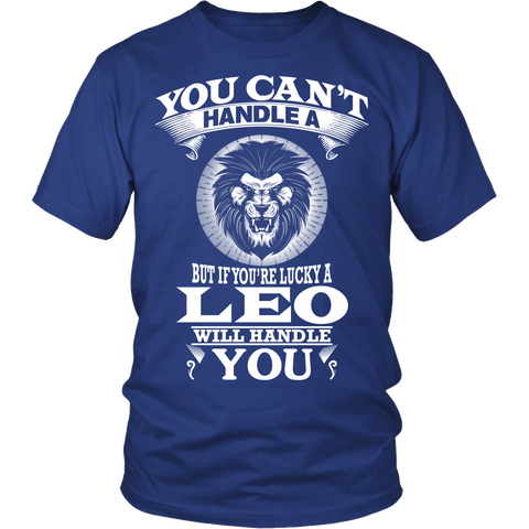 Zodiac Thing - Zodiac Tee: T-shirt - You Can't Handle A Leo