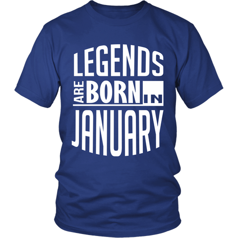 Zodiac Thing - Zodiac Tee: T-shirt - Legends Are Born In January T-shirt