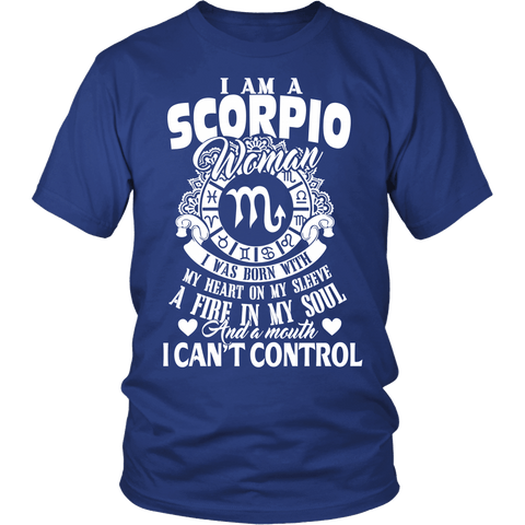 Zodiac Thing - Zodiac Tee: T-shirt - I Am A Scorpio Woman