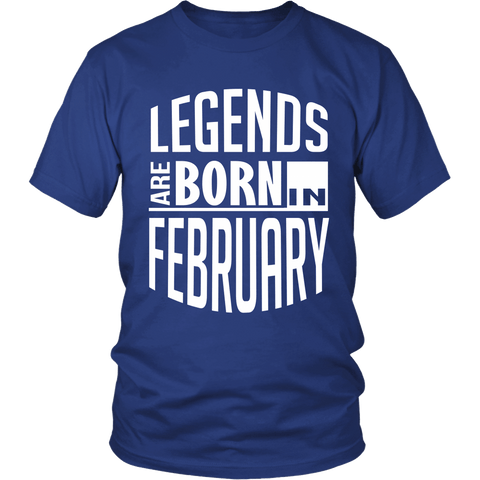 Zodiac Thing - Zodiac Tee: T-shirt - Legends Are Born In February T-shirt