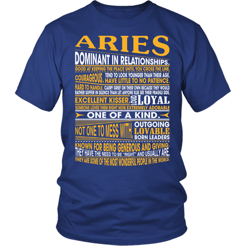 Zodiac Thing - Zodiac Tee: T-shirt - An Aries T-shirt