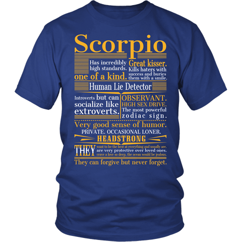 Zodiac Thing - Zodiac Tee: T-shirt - Great Scorpio T-shirt