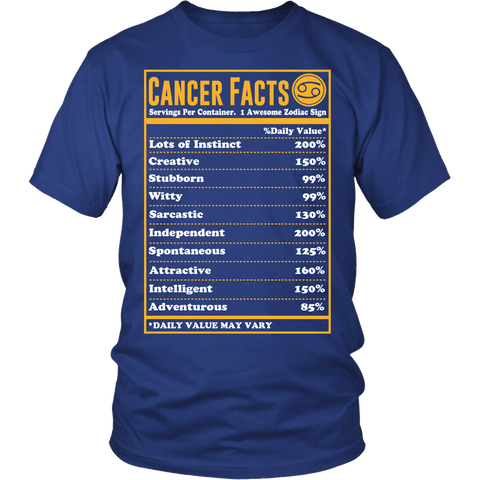 Zodiac Thing - Zodiac Tee: T-shirt - Cancer Facts T-shirt