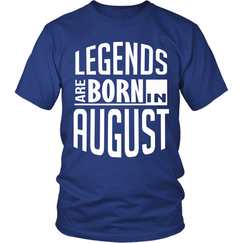 Zodiac Thing - Zodiac Tee: T-shirt - Legends Are Born In August
