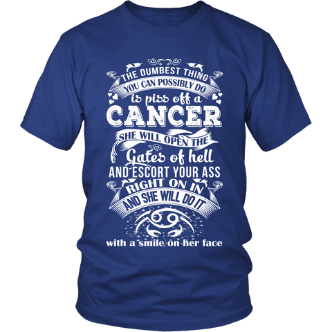 Zodiac Thing - Zodiac Tee: T-shirt - Cancer Smile