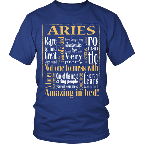 Zodiac Thing - Zodiac Tee: T-shirt - Amazing Aries T-shirt